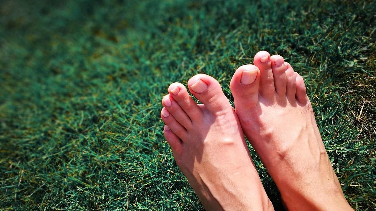 Pointed feet legs spread