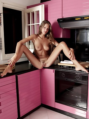 Naked women xxx in the kitchen