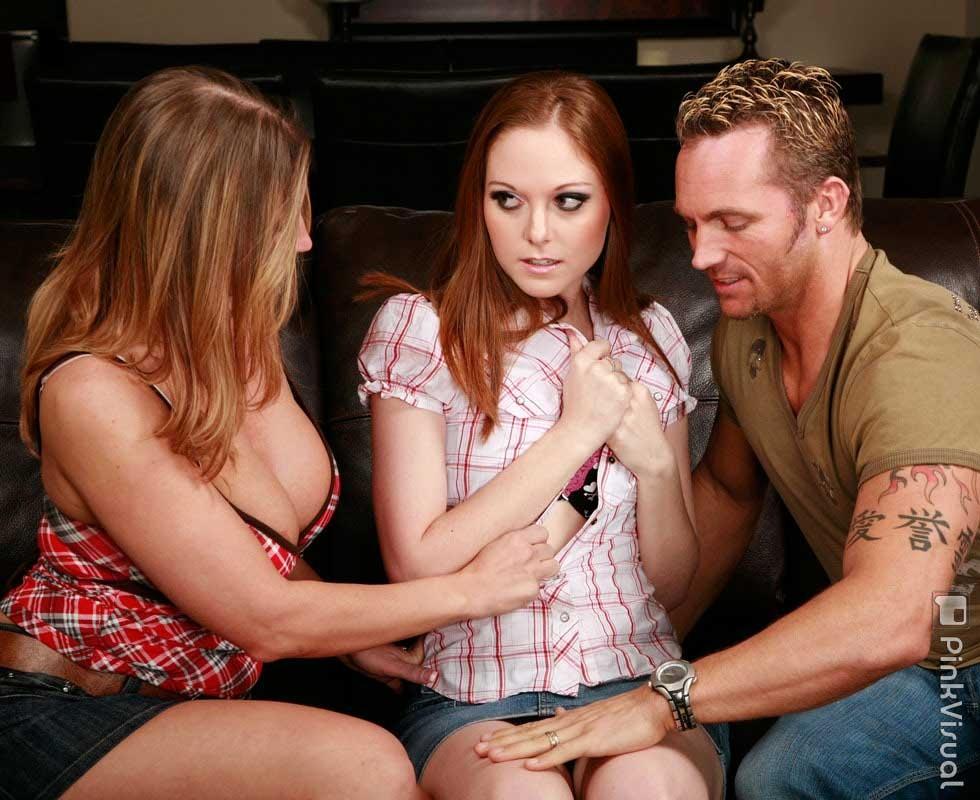 Redhead group sex porn