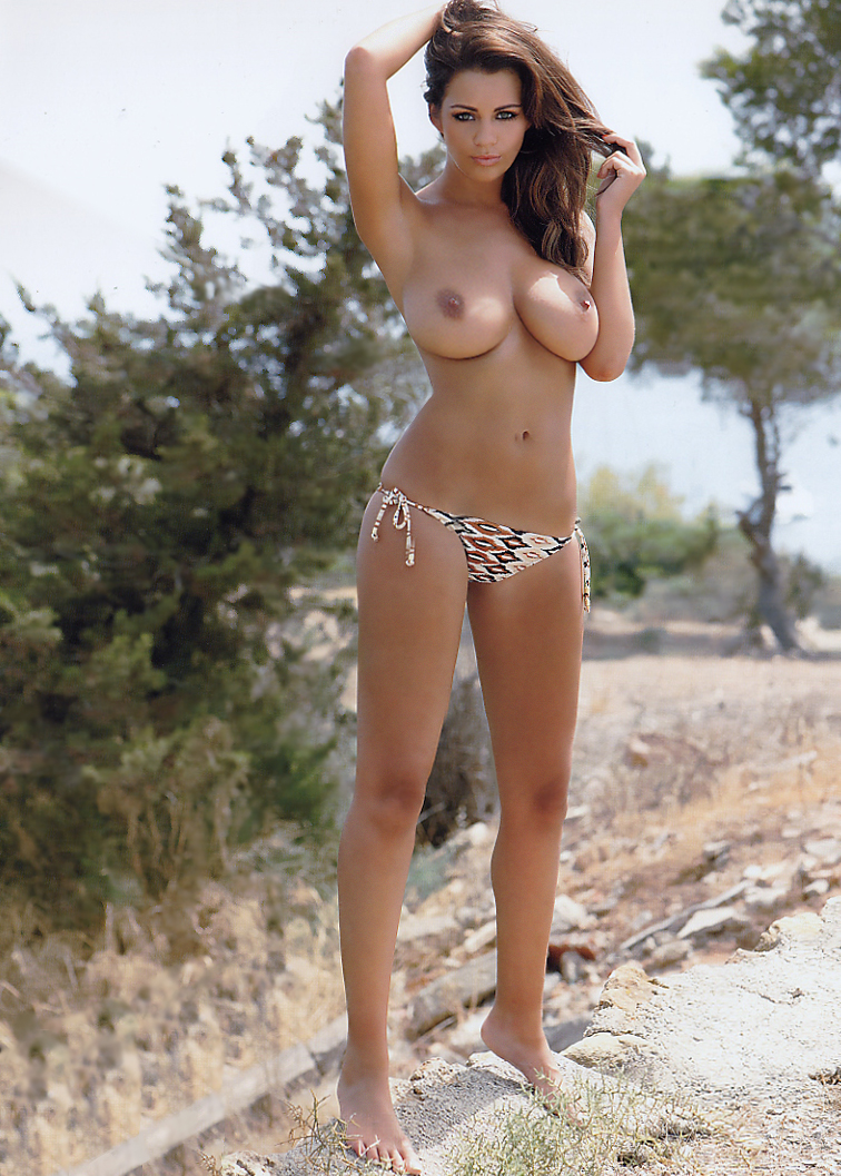 Calendar holly peers topless