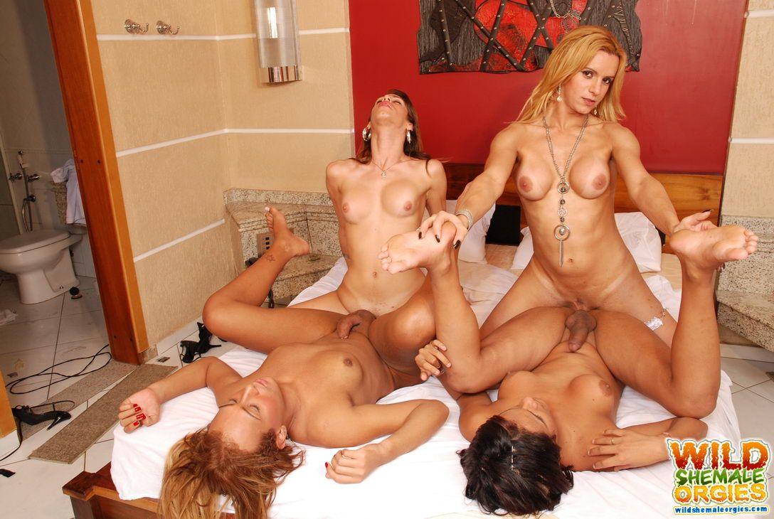Big cock tranny orgy porn