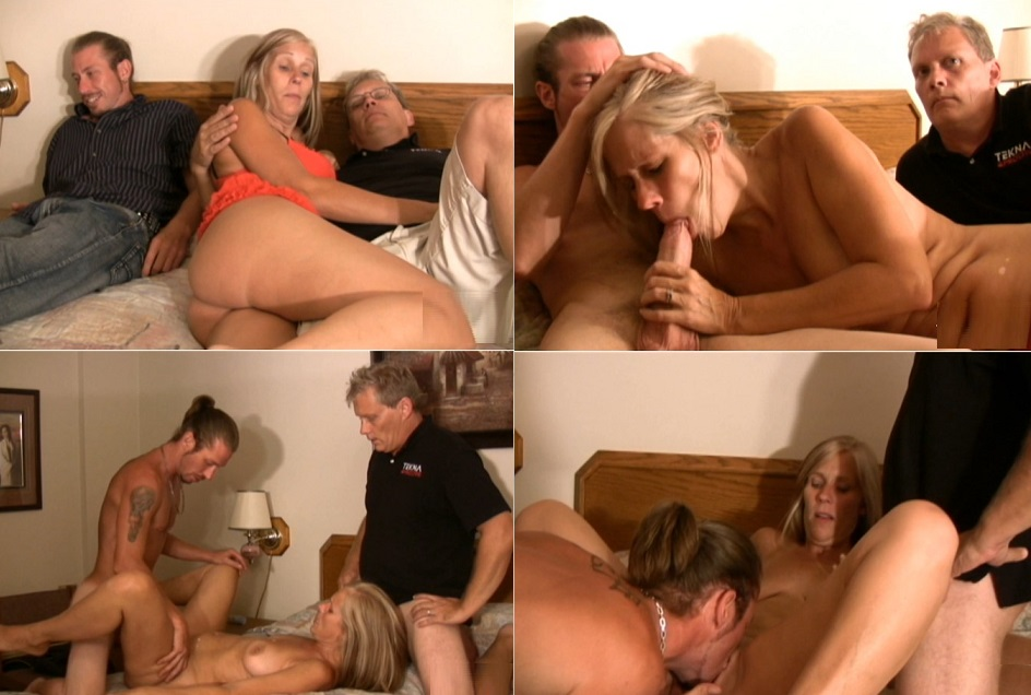 Dad and sons fuck mom