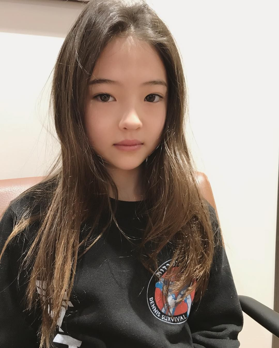 Tiny cute asian teen