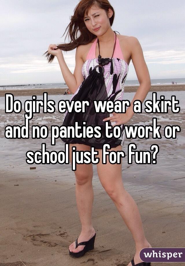Girl no panties dress