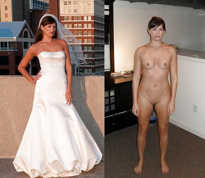 Bride dressed and undressed