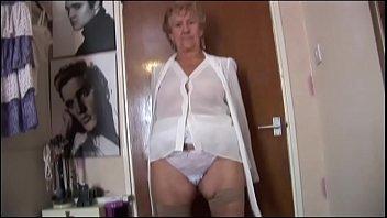 Granny in black pantie pussy fat