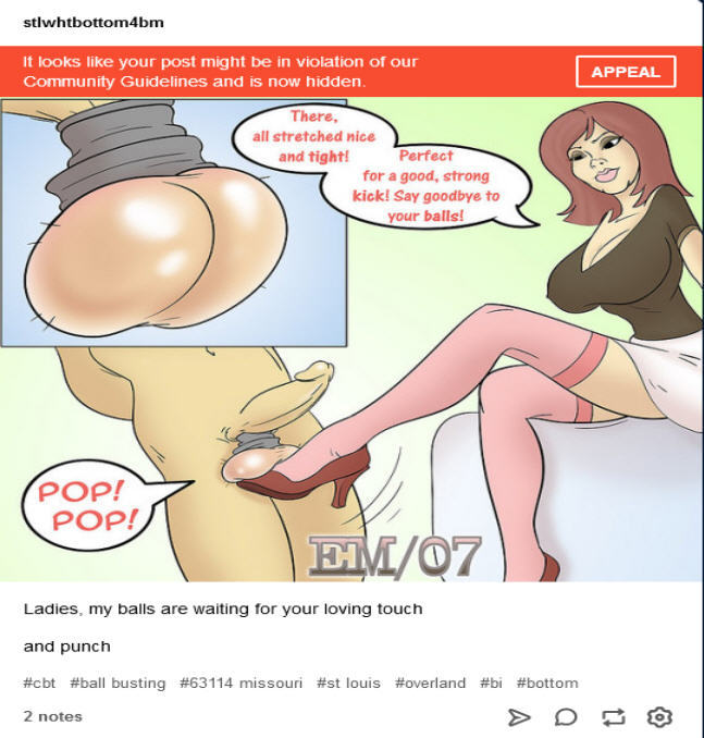 Cbt and ballbusting toon