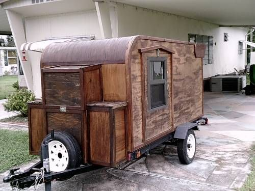 Vintage home made camper photos