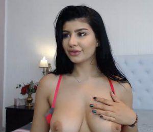 Flying cum shot on big tits