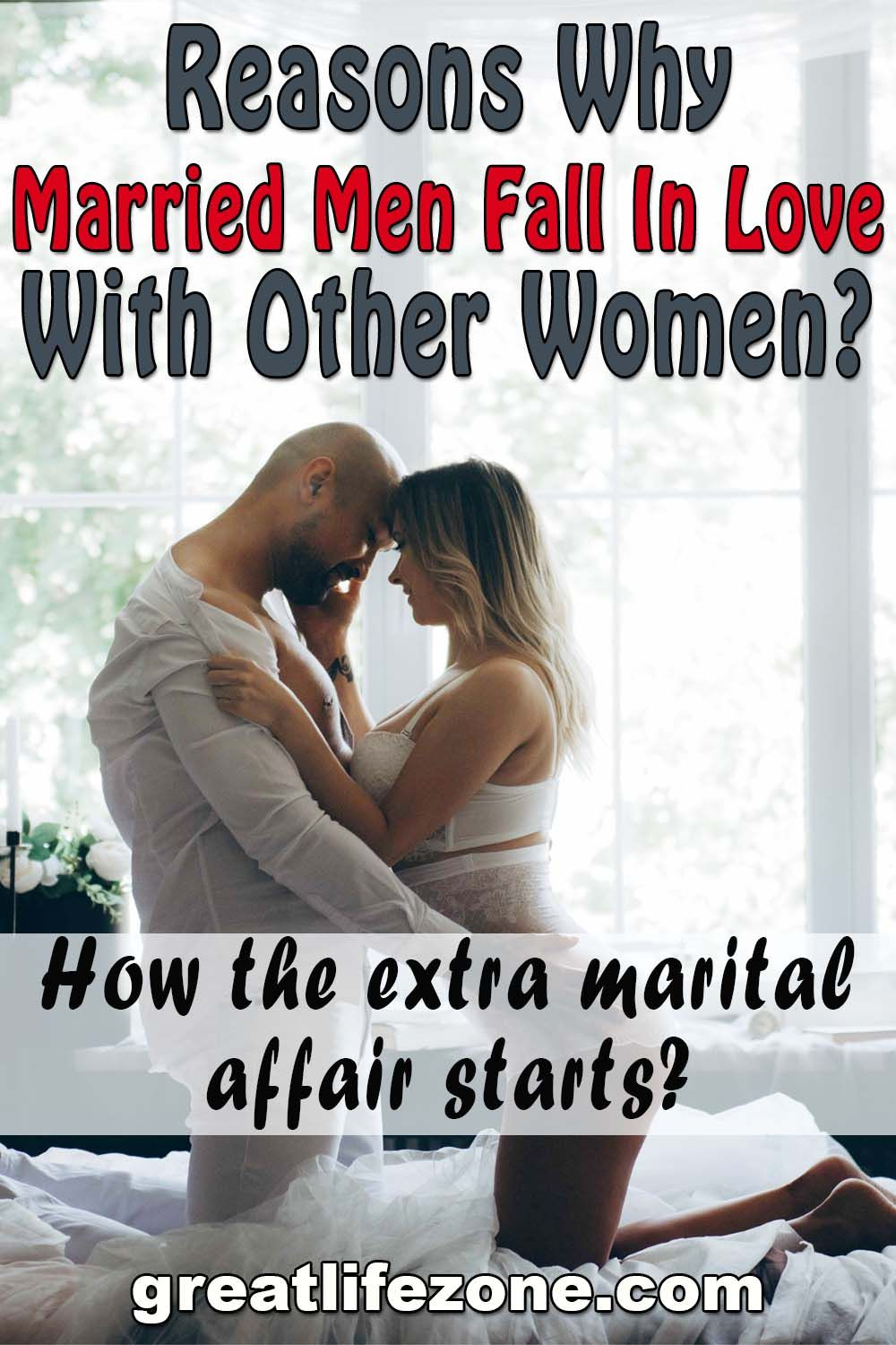 Married men and women making love