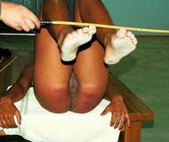 Girls spank in stocks