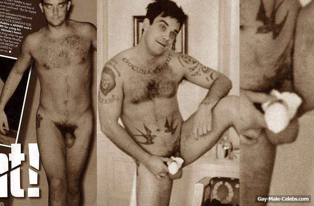 Robbie williams naked fake