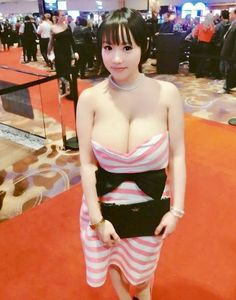 Clothed large breast japanese models