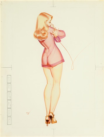 George petty pin up and cartoon girls