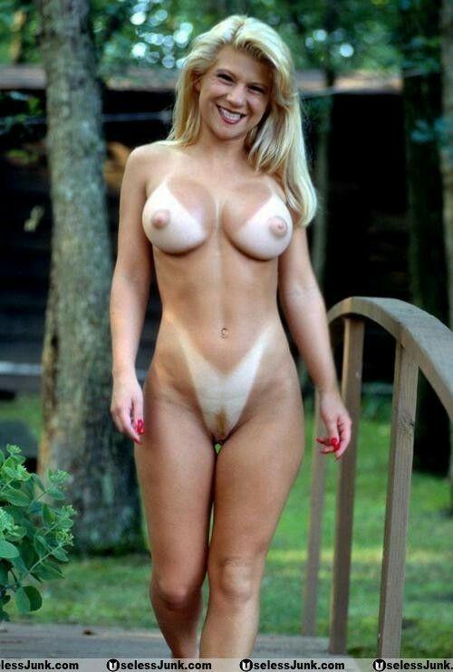 Nude mature women tan lines selfies