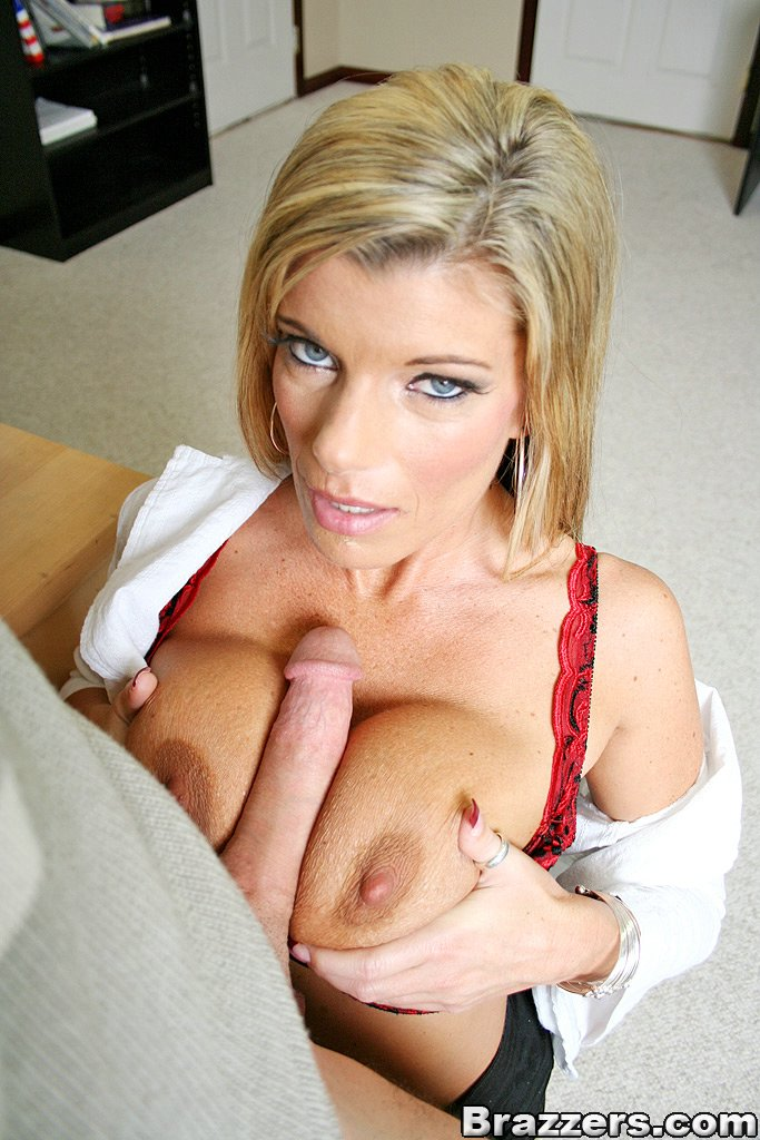 Sexy blonde teacher having sex