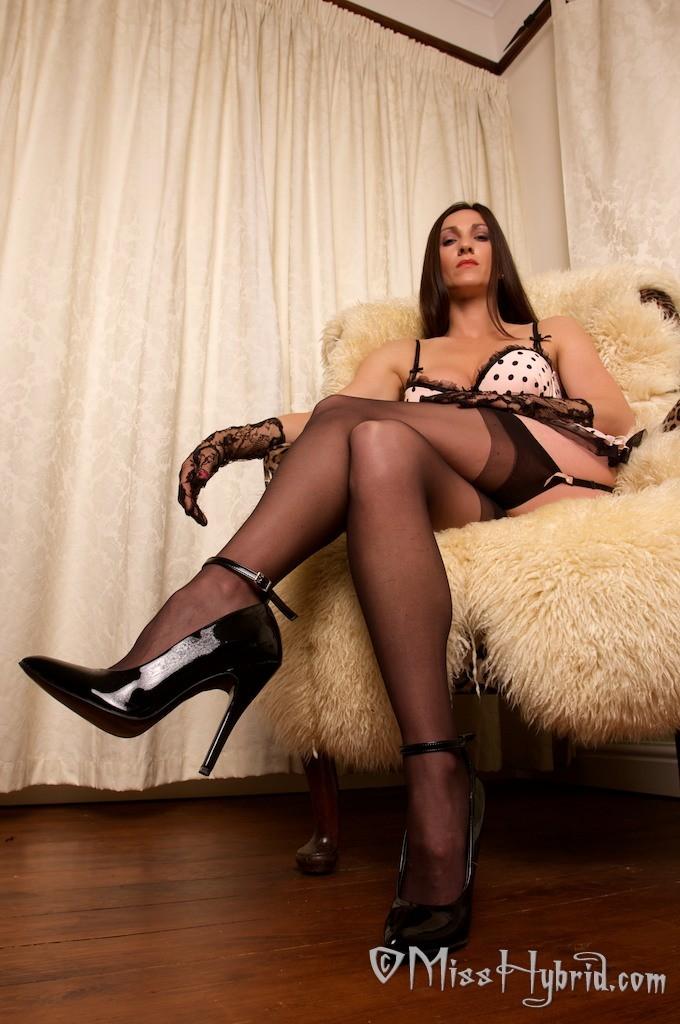 Milfs black stockings and heels