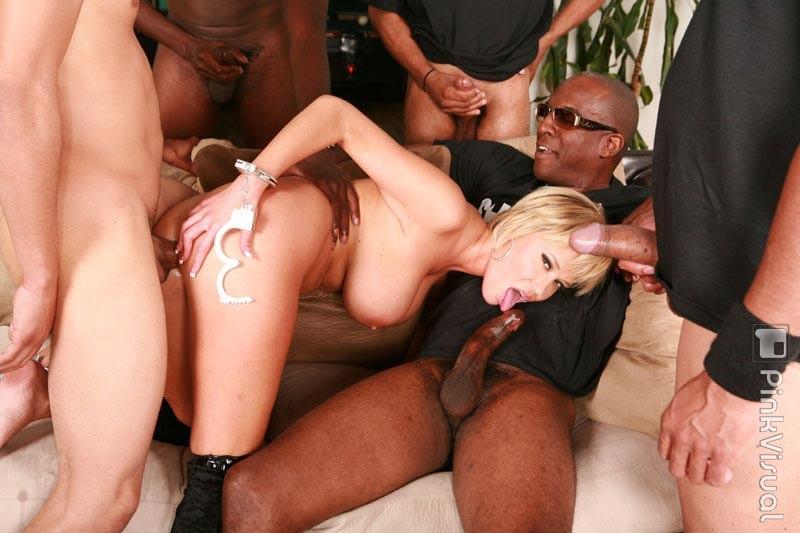 Big blonde interracial tit
