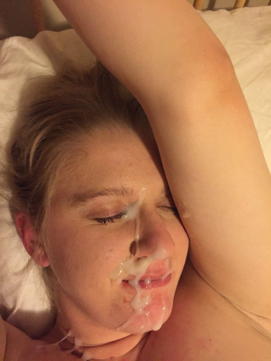 Amateur cum face shot