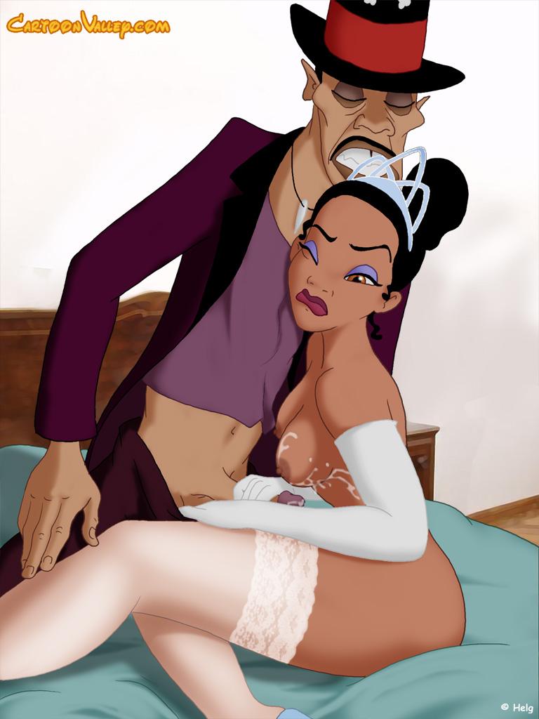 Cartoon princess and the frog porn