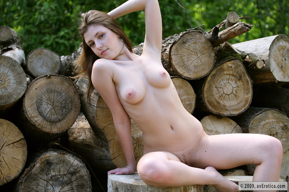 Naked sex in the woods