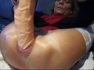 Tube wife giant dildo