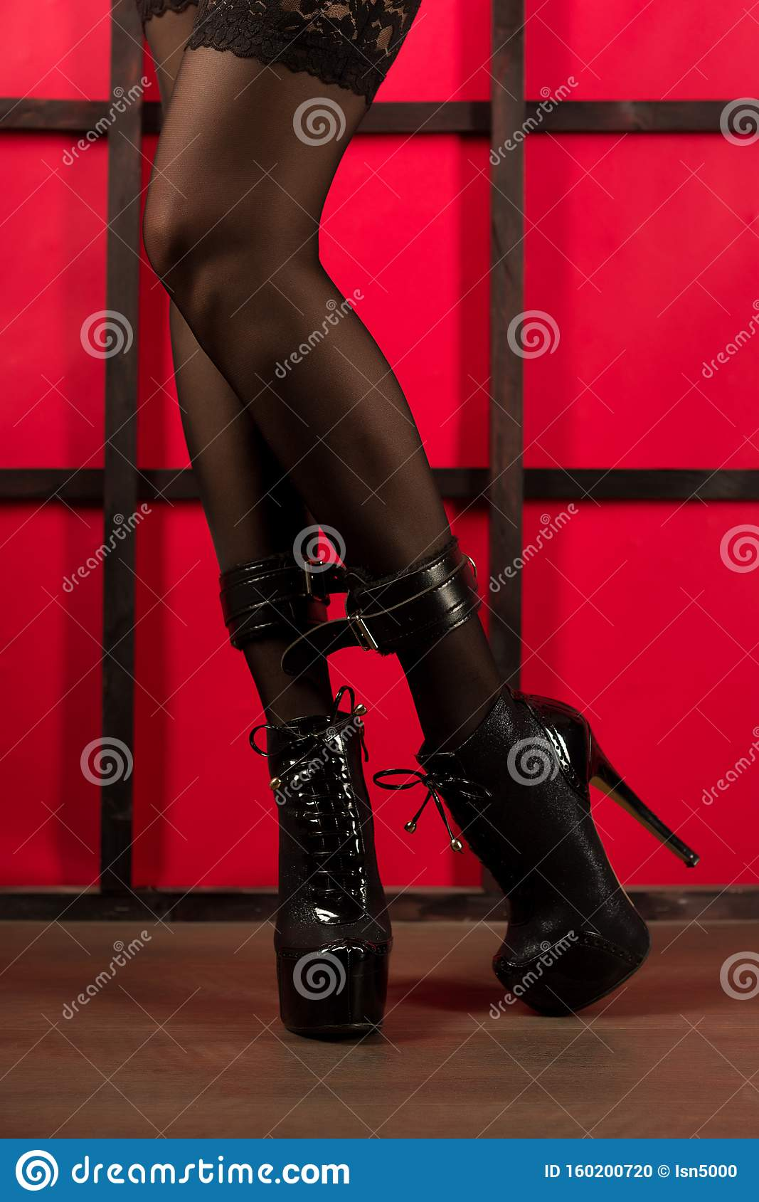 Sexy women in high heels bondage