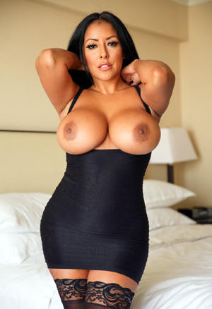 Brunette pornstar big tits milf