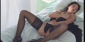 Veronica zemanova black lingerie