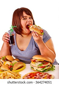 Food eating fat girl