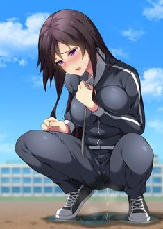 Anime girl pisses while having sex