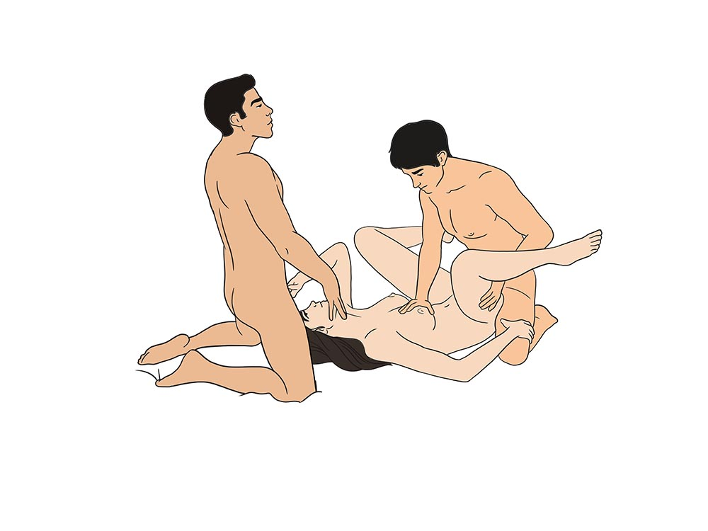 Threesome sexual positions pictures