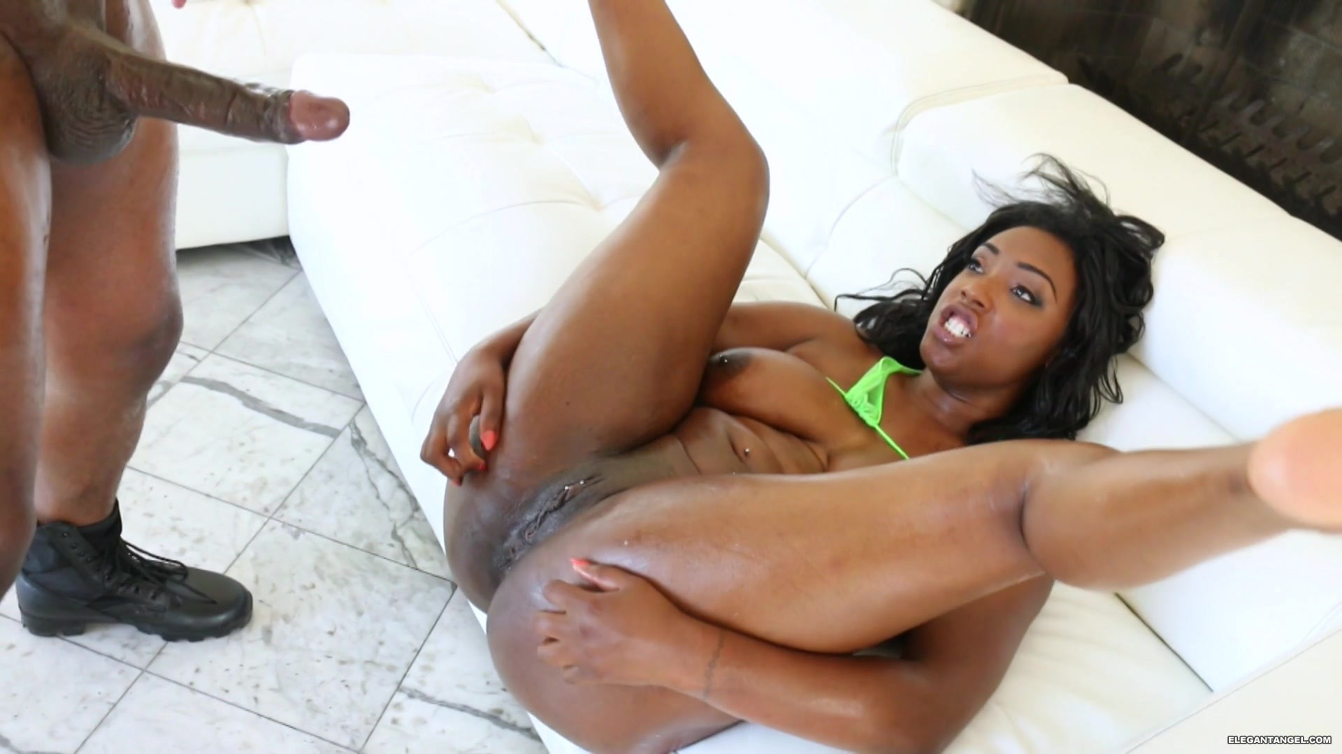 Huge black wet clitoris tits and
