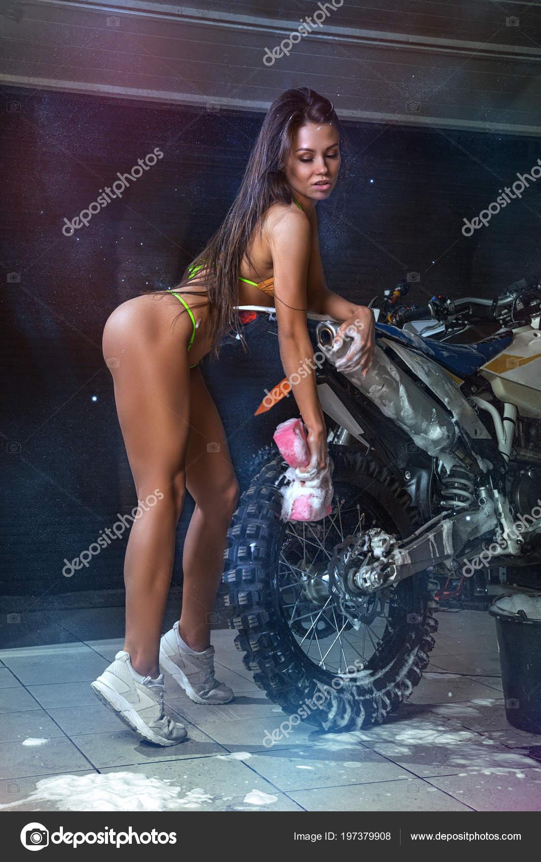 Sexy bikini biker girls