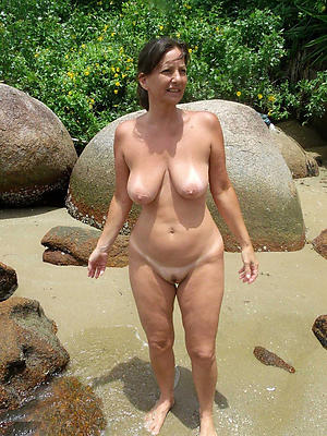 At beach nude mature