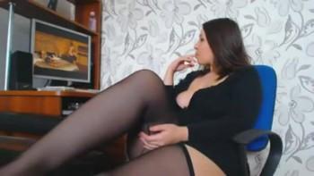 Girls masturbating watching porn