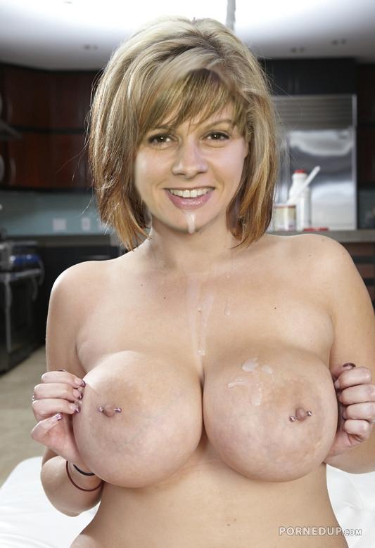 Cum on tits blonde
