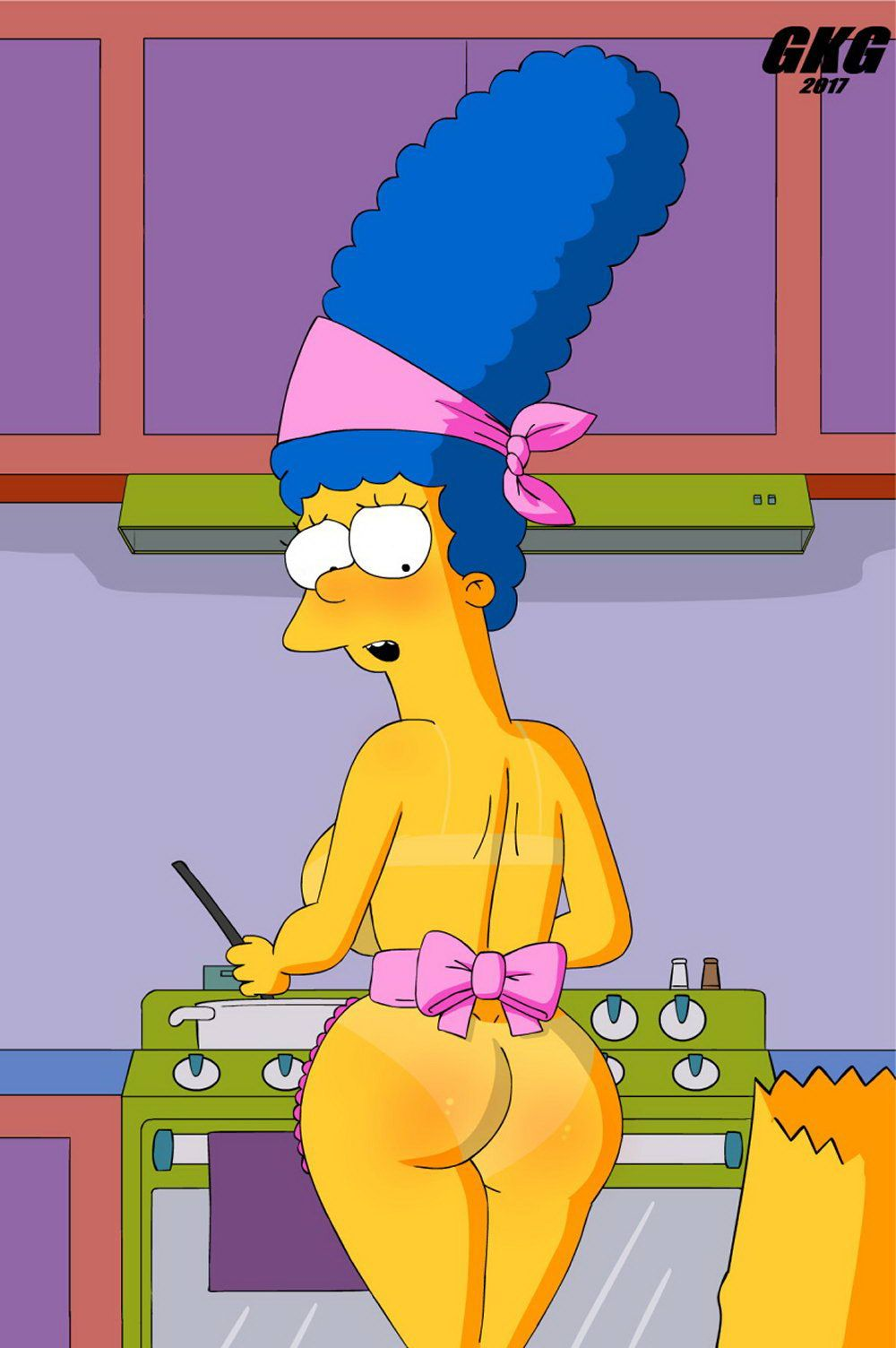 Bart and marge simpson cartoon porn