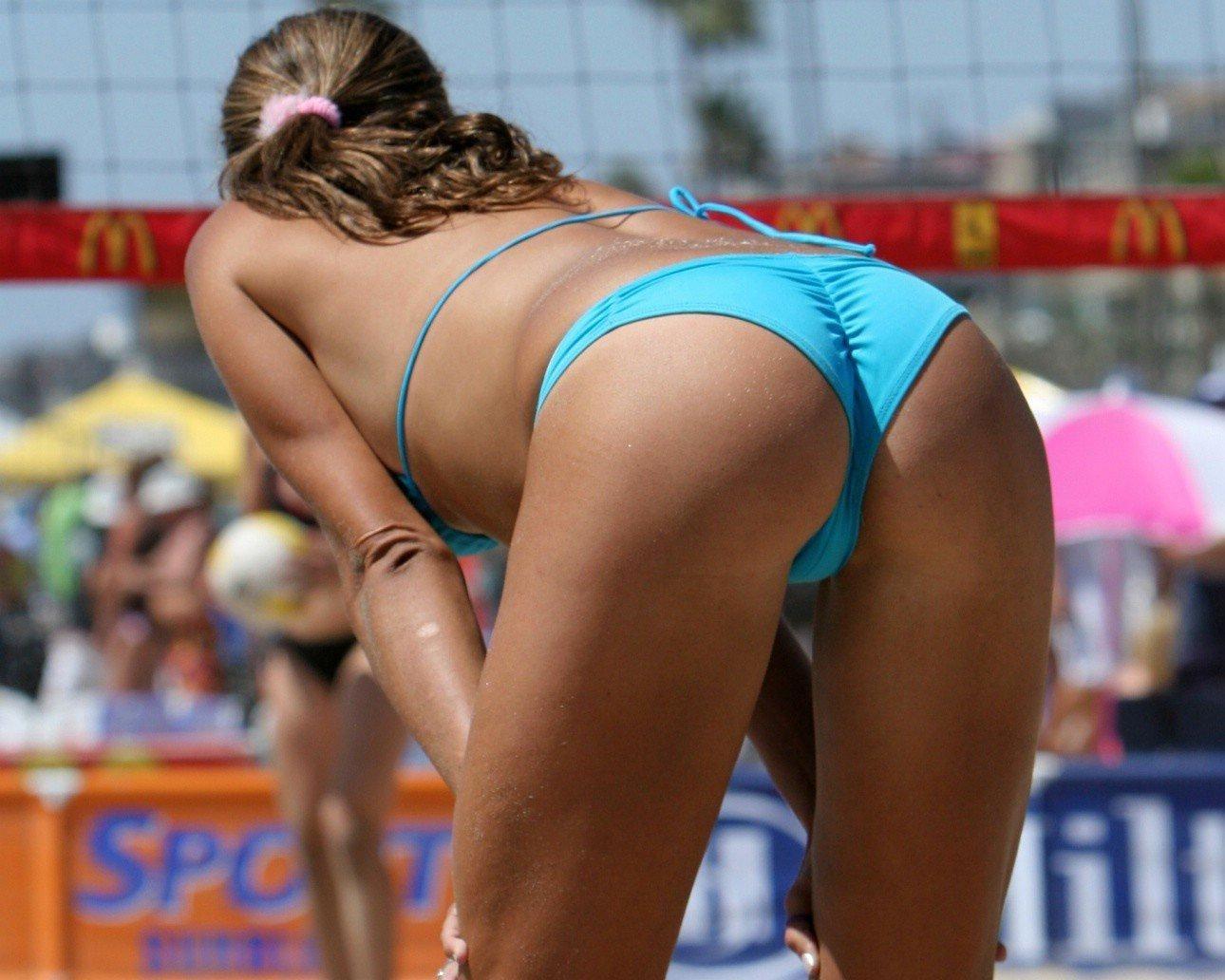 Beach volleyball girl ass nude