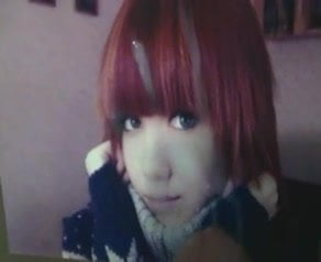 Red hair emo girl blowjob