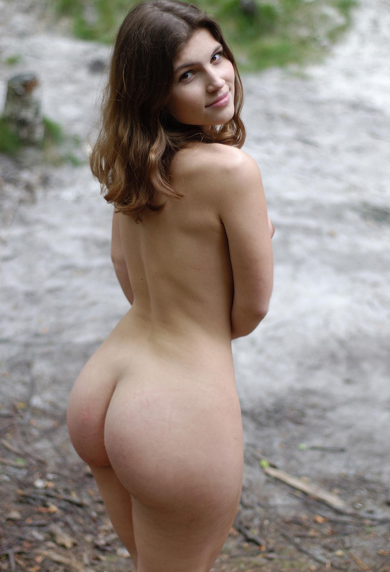 Asses outdoors naked girl