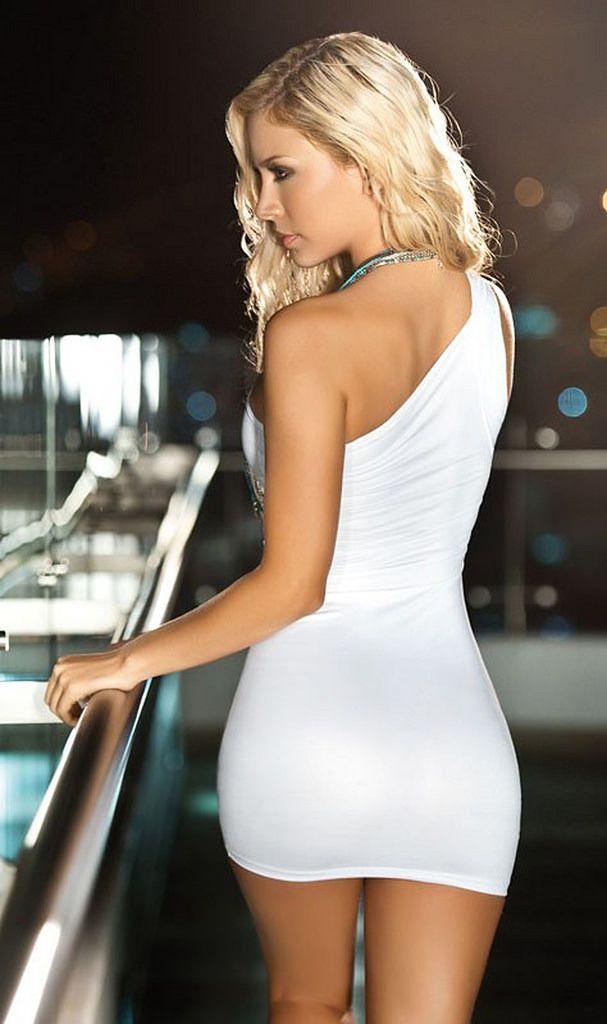 Hot girl tight short dress