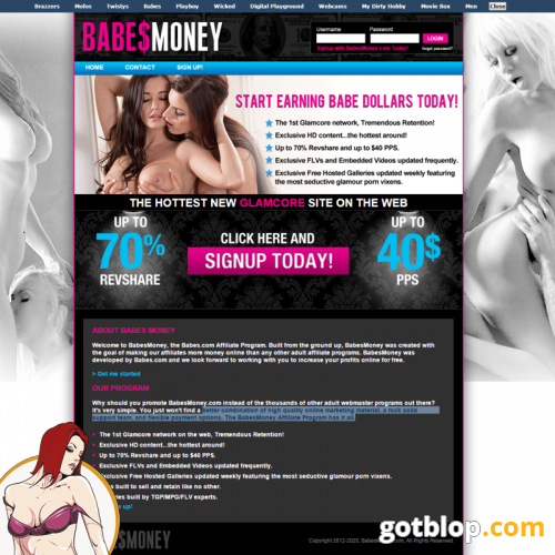 Adult affiliate free site web