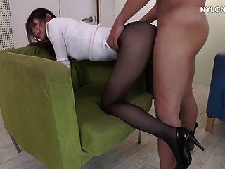 Ass fucking in pantyhose on porntube