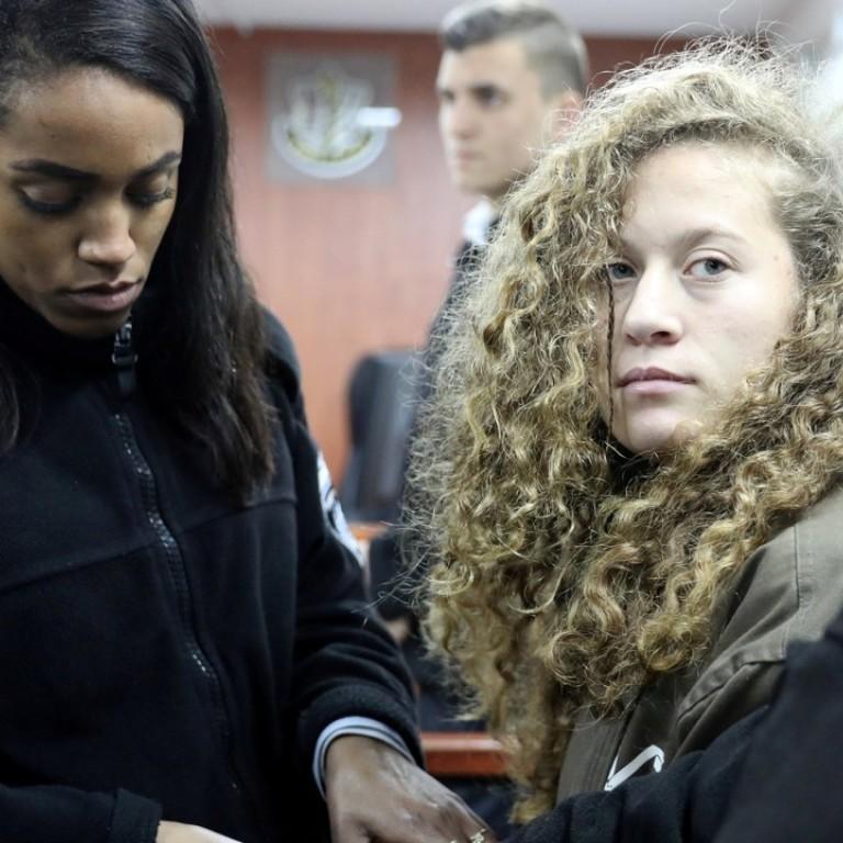 Surprised teen girl jail