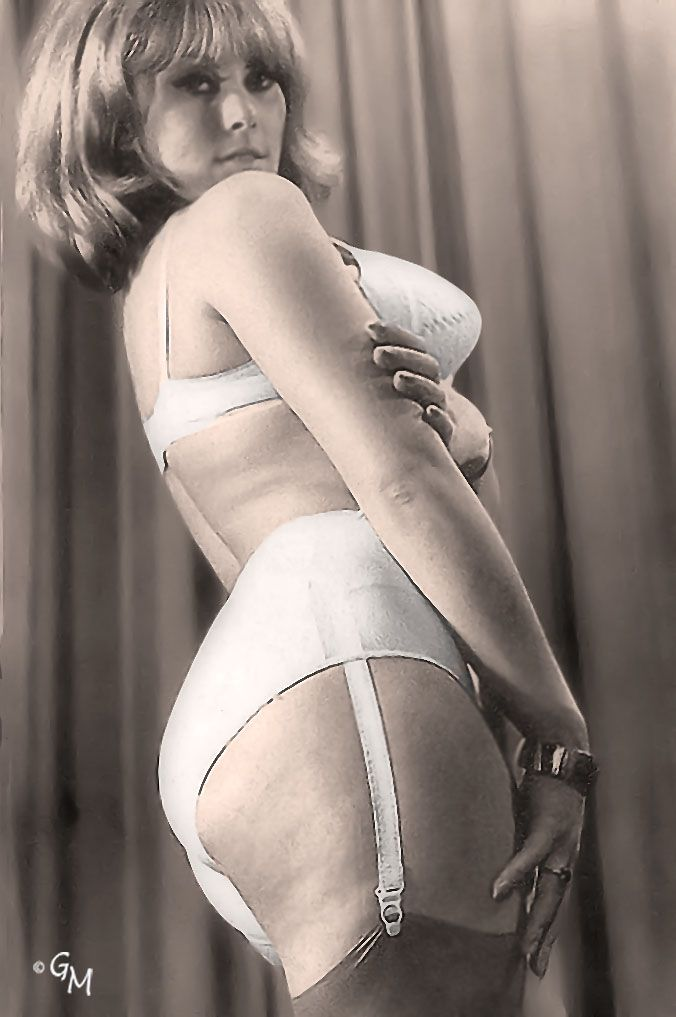 Women wearing panty girdles and stockings
