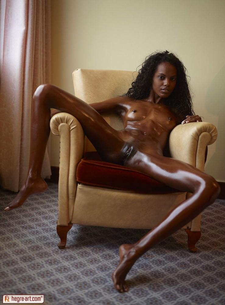 Big pussy thin slim black girl