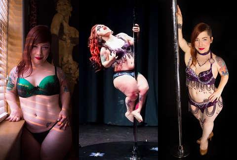 Dancers on exotic tour midget