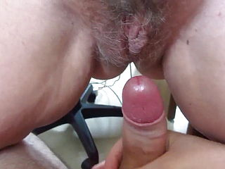 Hairy old lady squirt