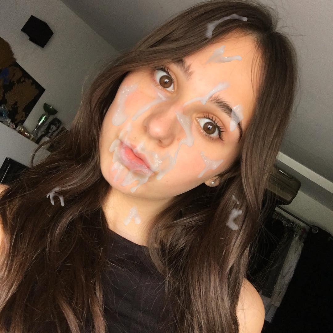Facial cum shot face
